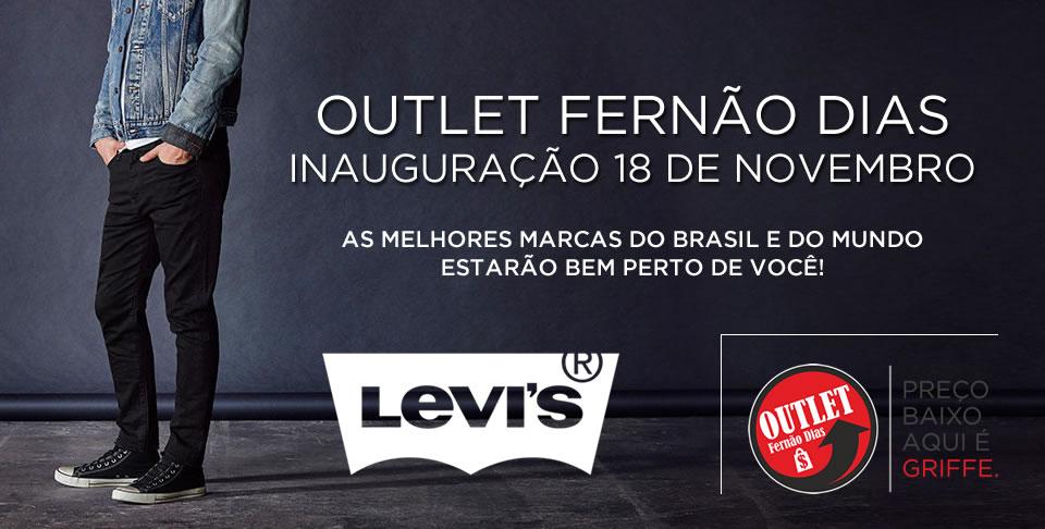 LEVI'S NO OUTLET FERNÃO DIAS - A PARTIR DE 18 DE NOVEMBRO!